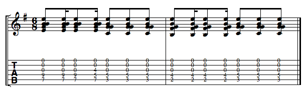 Open Strings Example 3: Open Strumming