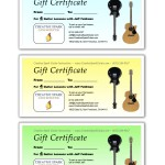 Guitar Lessons SF Gift Certificates 1