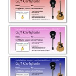 Guitar Lessons SF Gift Certificates 2