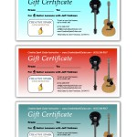Guitar Lessons SF Gift Certificates 4